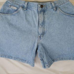 Vintage Wrangler High Wsist 100% Denim Shorts 29